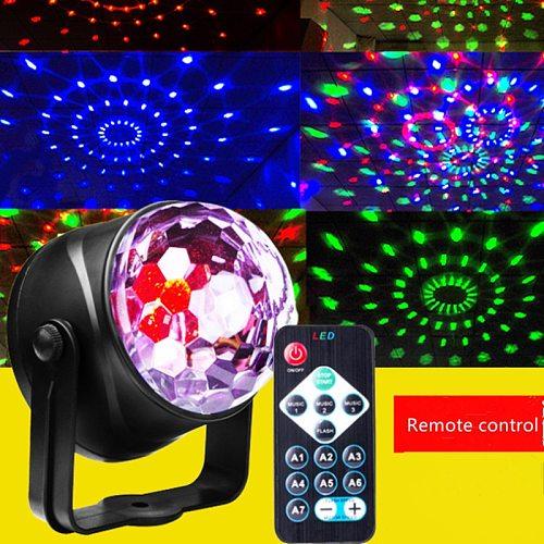 Disco Lights Rotating Ball Lights RGB LED Stage Lights Remote Control LED Small Magic Ball USB Mini Crystal Magic Ball Light