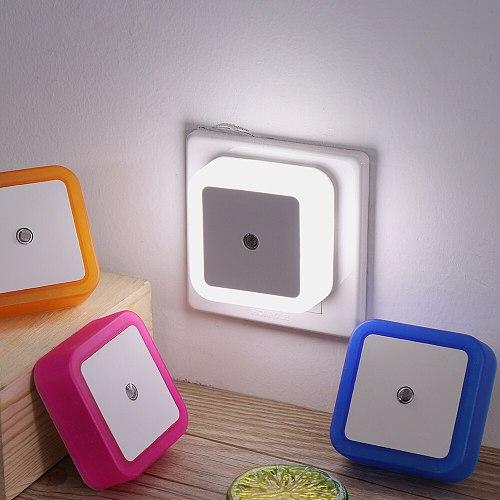 1PC 110V-220V LED Night Light EU US UK Plug Novelty Mini Light Sensor Control Nightlight Children Kids Living Room Bedroom Light