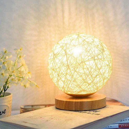 15CM 3D Print LED Moon Light Magical Projection USB Charging Night Light Lamp Desk Ball Light with Wood Base Home Decor