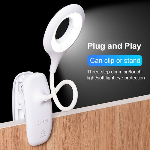 2020 Adjustable LED Reading Desk Lamp Flexible Touch Bedside Table Study Night Light Comfortable Table Lamps 18led Usb 1200ma