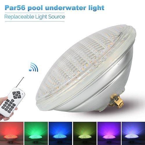 LED Swimming Pool Light IP68 Par56 Underwater Light AC12V LED RGB Lights Color Changeable Waterproof Light Replace Halogen Lamps