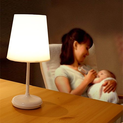 Creative Wireless LED Table Lamp USB Rechargeable Adjustable Bedside Night Light with Remote Controller