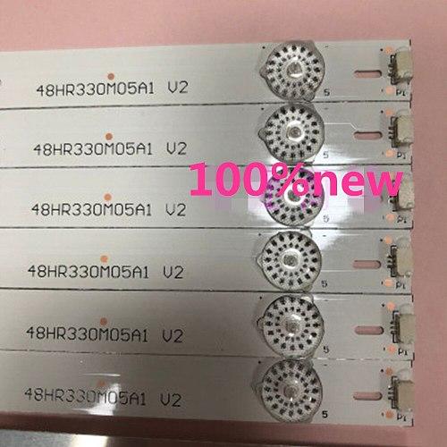8pcs/set  5LED L48F3800A D48A710 B48A538 strip Circuits YHF-4C-LB4805-YHEX1 48HR330M05A1 V2