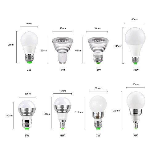 E27 E14 GU10 Colorful RGB LED Bulb Stage Light 3W 10W Party Lamp Stage LED Disco Light home decoration lighting lamps
