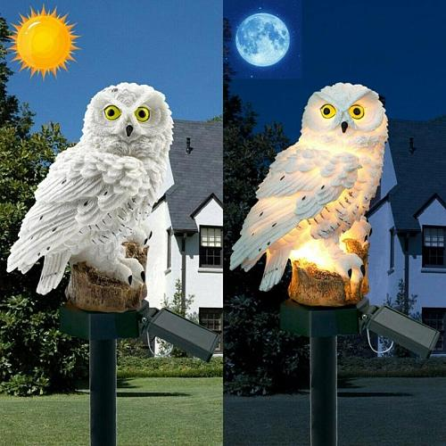 Led Solar Power Outdoor Garden Waterproof Owl Stake Lawn Light Exterior Night Lights Owl Shape Solar Powered Energia Lawn Lamp