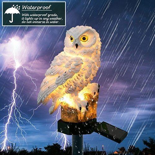 Owl Solar Light LED Solar Power Lights Garden Lawn Courtyard Lamps Festival Decor Night Lighting Waterproof Outdoor Yard Lights