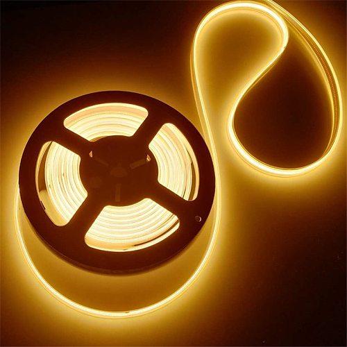 COB LED Strip Light 12v  Waterproof High Density No Spot Flexible COB LED Strip for TV Background Decor 3000K 4000K 6000k 8000K