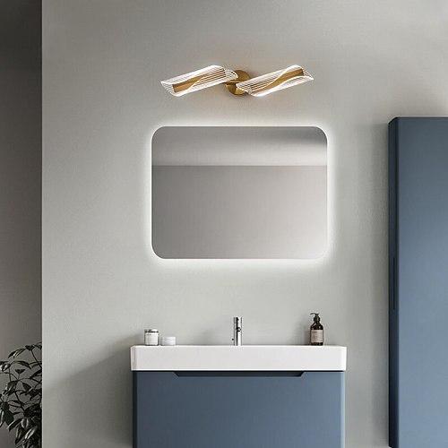 LODOOO  Modern Led Bathroom Mirror Light Gold 1~4Head Bedroom dressing table mirror lamp Entrance hallway Mirror lighting