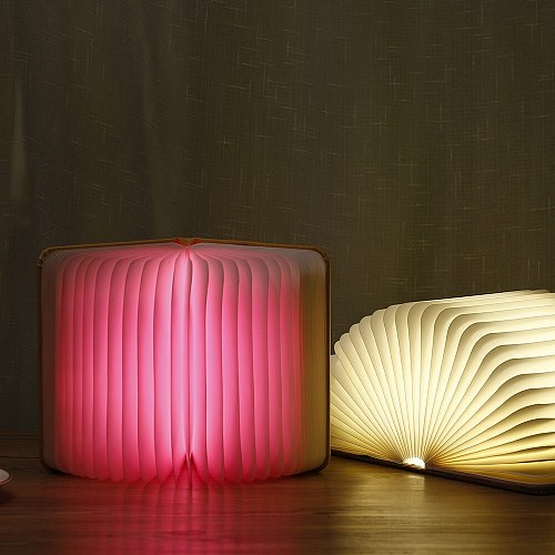 3D Wooden PU LED Book light Table lamp USB Rechargeable usb leds booklight Magnetic 3-5color Foldable Night booking Desk Light