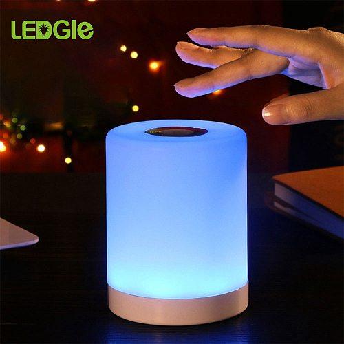 USB Smart Bedside Lamp LED Table Lamp Friend Creative Desk Light for Boy Girl Baby Bedroom Desk Bed Lampe Night Light Xmas Gifts
