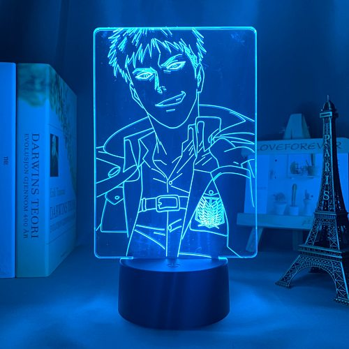 Anime Attack on Titan 3d Lamp Jean Kirstein Light for Bedroom Decoration Kids Gift Attack on Titan LED Night Light Jean Kirstein