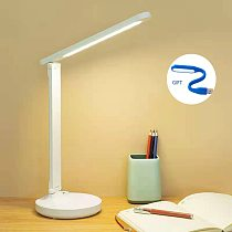 Folding LED learning children's student dormitory eye protection reading charging USB table lamp hotel gifts