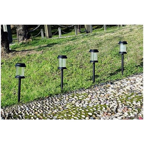 6PCS/Set LED Solar Garden Lights Outdoor Solar Powered Lamp Lantern Waterproof Landscape Lighting For Pathway Yard Lawn Decotate