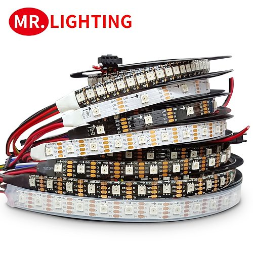 APA102 Smart led pixel strip light 5m/lot;DC5V 30/60 leds/pixels/m;DATA and CLOCK seperately;IP30/IP65/IP67;SK9822 led strip