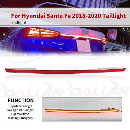 Red/Smoke Style Rear Bumper Tail Light For Hyundai Santa Fe 2019 2020 LED Reflector Brake Lamp Warning turn Signal Driving Lamp