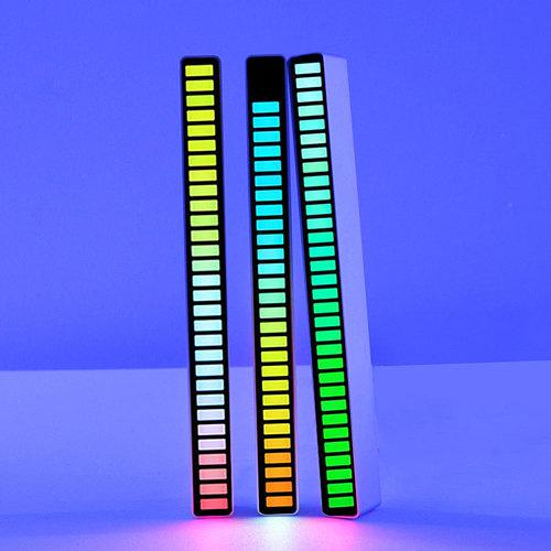 LED Strip Light Sound Control Pickup Rhythm Light Music Atmosphere Light RGB Colorful Tube USB Energy-Saving Lamp Ambient Light