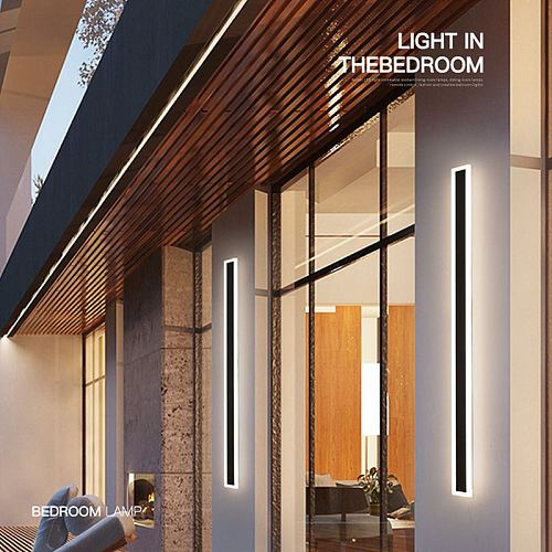 Modern Surface Mounted Acrylic LED Wall Lights For Bedside Porch Bathroom Mirror Indoor&Outdoor Home Lighting Lamps Fixture