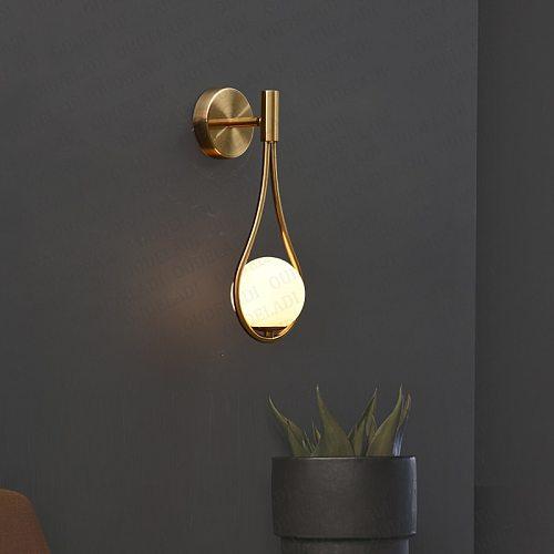 Nordic personality creative living room metal wall lamp fashion modern minimalist model bedside glass wall lamp bedroom