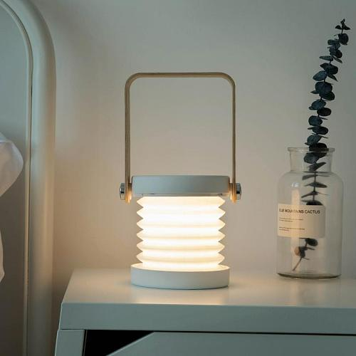 Home LED Lantern Light Retractable Lantern Lamp USB Portable Night Lighting Table Lamp Folding Touch Reading Eye Protection Lamp