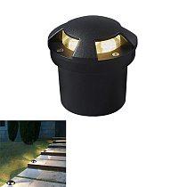 6W 3W IP67 Waterproof LED Underground Light Aluminum Outdoor Garden Buried Floor Lamp Path Lawn Deck Decor 85-265V/Dc12V