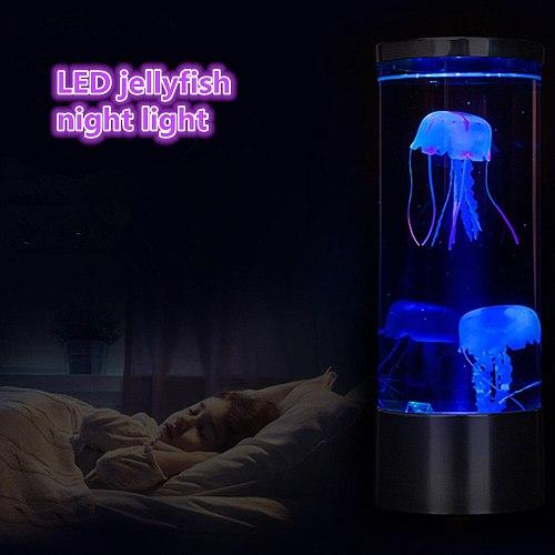 USB Power Jellyfish Mood Desk Bedside Lamp Fantasy Aquarium Hypnotic Color Changing Kids LED Night Light Home Decor