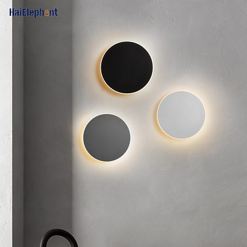 Round Touch Switch LED Wall Lamps For Corridor Bedroom Bedside Indoor Lighting Fixtures Lustres Luminaire Modern Aisle Lights