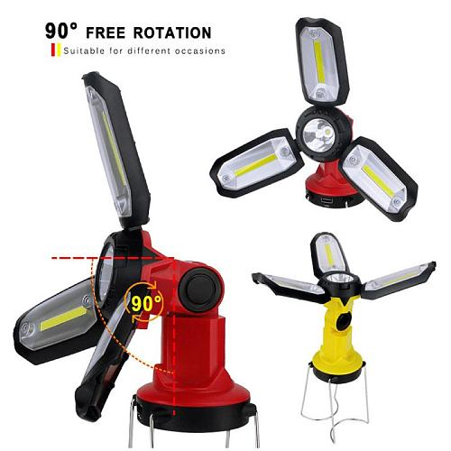 Foldable lantern flashlight LED Garage Light potable Maintenance Light Work Light Rechargeable Emergency Tent Lamp
