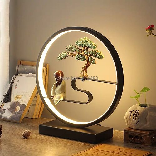 Table Lamp Bedroom Bedside Lamp Desk Study Dormitory Eye Protection Night Light Retro Living Room Decorative Table Lamp