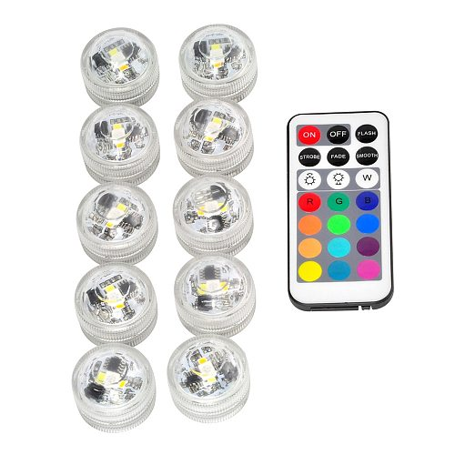 Battery Operated Multi Color Submersible LED Underwater Light for Fish Tank Pond Swimming Pool Wedding Party IP68 Waterproof