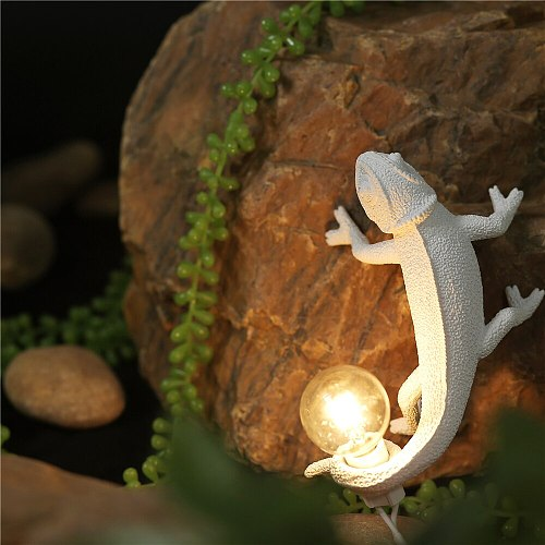 Seletti Resin Lizard Night Light Nordic Living Room Bedroom for Modern Animal Chameleon Table Lamp Led Wall Lamp decor Luminarie