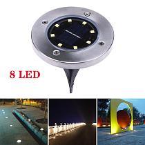 8/10 LED Solar Floor Light IP67 Waterproof Outdoor Solar Power Underground Lamps For Path Way Garden Terrace Stair Lighting Deco