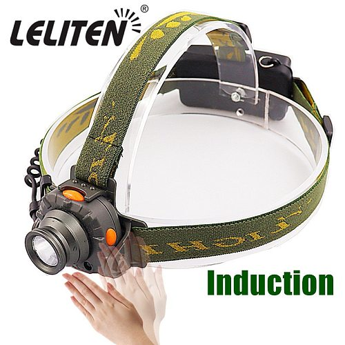 Mini induction LED Headlamp Fishing Portable head lamp flashlight  Headlight Headlamp torch