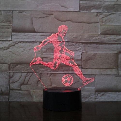 Kids 3D Lamp Football LED Night Light Home Decoration Luminaries Child Boy Birthday Gift Table Nightlight All Soccer Club Logo