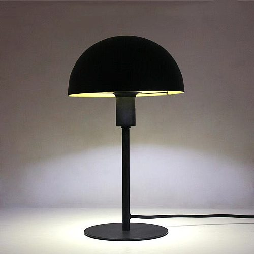 Minimalist Metal Mushroom Table Lamp  LED Eye Protect Small Table Light for Desk Dormitory Student Reading Plug-in Bedside Lamps