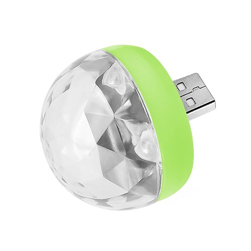 Mini USB LED Disco Lights Portable Christmas Party Magic Ball Disco Stage Lights Club Colorful Stage Effect Lights Mobile Phone
