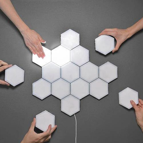 Home Decor lighting sensitive Hexagonal lamps LED night light magnetic decoration wall lamp Touch Control Quantum modular Lights