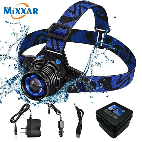 ZK50 Dropshipping LED Headlamp 3 Modes Q5  Waterproof High Brightness Built-in Lithium Battery Rechargeable LED Headlight Climb