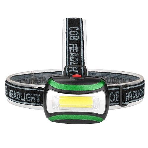 COB/6LED Mini Headlamp 3 Mode Waterproof Headlight 3xAAA Battery Head Flashlight Torch Lantern For Outdoor Camping Night Fishing