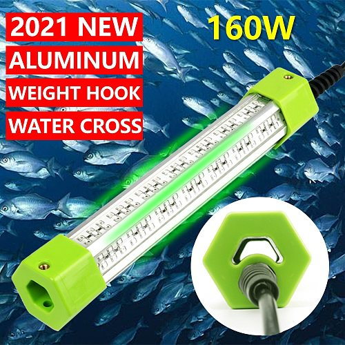 DC 12V 70W 160W 6 Sides Green White Blue Yellow Aluminum High Power LED Fish Submersible Underwater Fishing Light