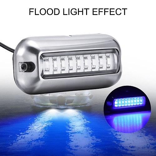 50W Stainless Steel LED Underwater Pontoon Ocean Ship Beam Light Yacht Stern Light Fishing Night Light