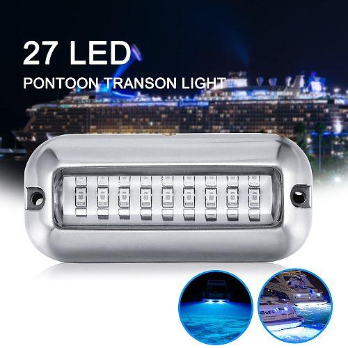 27LED 12V Boat Transom Light Underwater Pontoon Marine Ship Boat Accessories Light Stainless Steel Waterproof Marine Light IP68