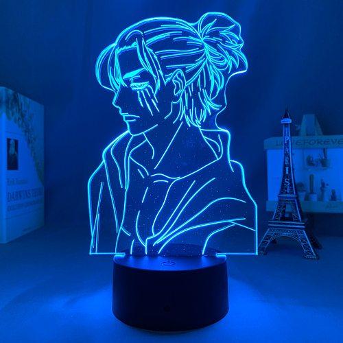 Anime Light Attack on Titan 4 Eren Yeager Figure for Bedroom Decor Night Light Kids Birthday Gift Shingeki No Kyojin 3d Lamp