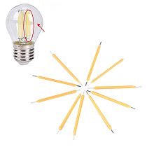 10Pcs Filament Bulb Candle Light Source COB Super Bright DIY Candle Light LED Lamp Manual Supply Warm White Lighting