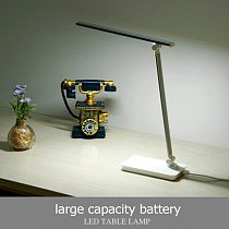 LED Desk Lamp Non-flickering Silver Gold Aluminum Foldable Dimmable USB Rechargeable Lamp Table Light With 3-CCT Adjustable