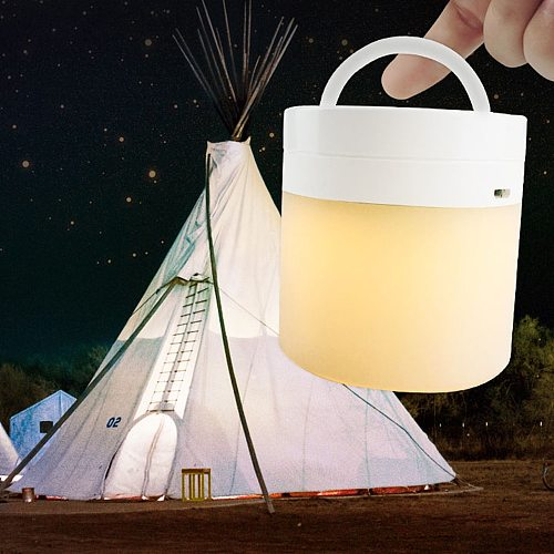 USB Rechargeable LED Night Light Colorful Lighting Touch Sensor Night Lamp Bedside Lamp for Bedroom Living Room Night Led Light