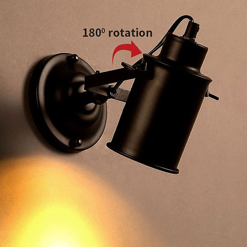 Vintage Wall Lamp Industrial light wall sconc,Plug with push button switch,Retro light wall,bedroom living room aisle lighting