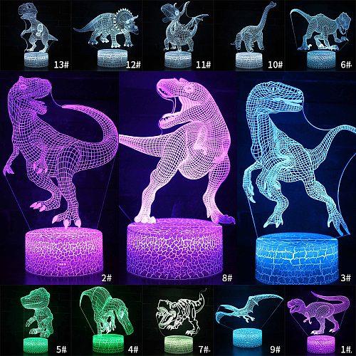 Desktop Bedside 3D LED Night Light Dinosaur series Gift Desktop Decoration Remote & Touch Control  Kids LED Table Desk Lamp  D30