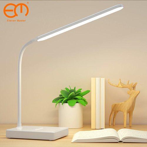 Desk Lamp Touch Table Lamps For Living Room Gooseneck Desktop Foldable Dimmable Eye Protection Study Lamp Led Light  ZZD0008