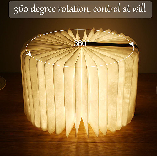 Led USB Lamp Book LED Night Light Leather 5V USB Rechargeable Magnetic Foldable Desk Table Lamp 3color Home Decoration