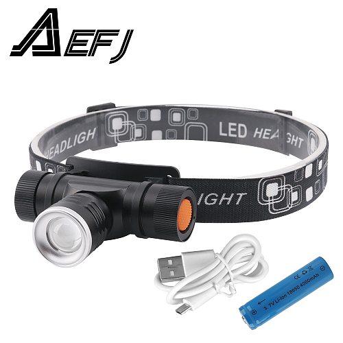1000LM XML T6 LED Headlamp 3-Mode Zoom Headlight USB Charge Head Torch Camping Flashlight Hunting Frontal Lantern Lamp Light